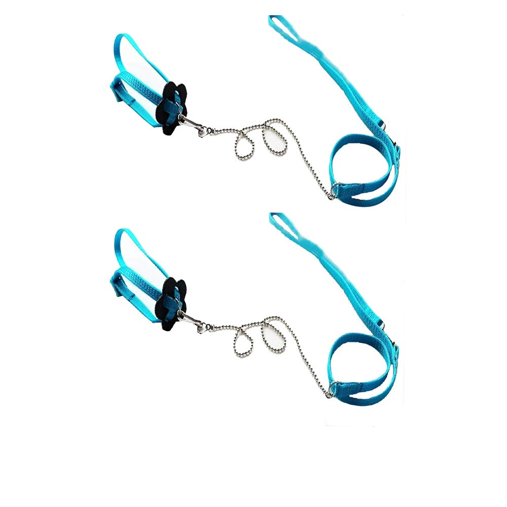 Bello Luna 2Pcs Adjustable Lizard Leash and Parrot Harness Leash ...