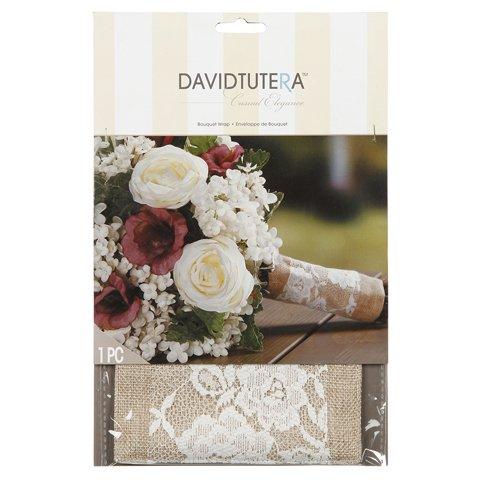 David Tutera Burlap and Lace Bouquet Wrap Bouquet Wrap