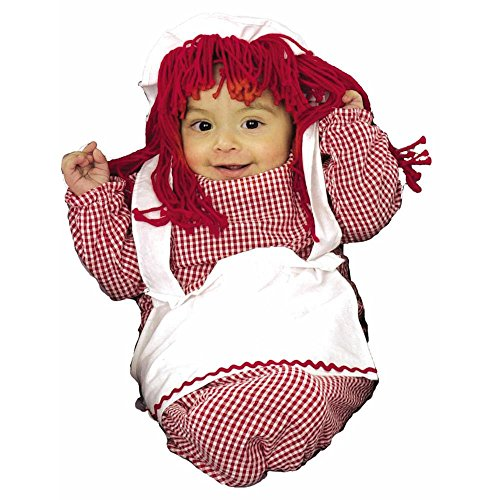 Raggedy Ann Bunting Infant Costumes (Old Fashioned Doll Baby Bunting Costume)