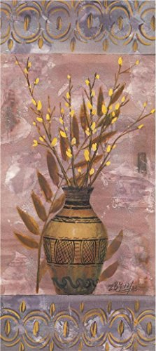 Oil Painting 'Pot With Yellow Flowers', 30 x 67 inch / 76 x 171 cm , on High Definition HD canvas prints is for Gifts And Bed Room, Home Office (Lime Wedge Adult Costumes)