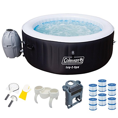 Coleman SaluSpa 4-Person Inflatable Spa Hot Tub with Acce...