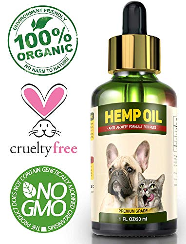 Hemp Oil for Dogs and Cats - Full Spectrum Hemp Extract - 500mg - All Natural Pain Relief for Dogs & Cats, Calming, Stress & Anxiety Support, Wellness, Hip & Joint Health - Easily Apply to Treats from Dr. Pet