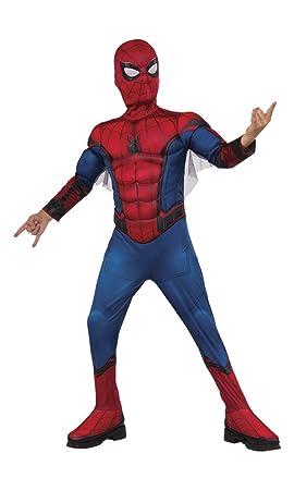 Spiderman-155032-S Disfraz Infantil en Caja con músculos y Mascara, S (