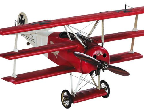 Triplane Red Baron (Red Baron'S Wwi Desktop Triplane Wooden Model 15