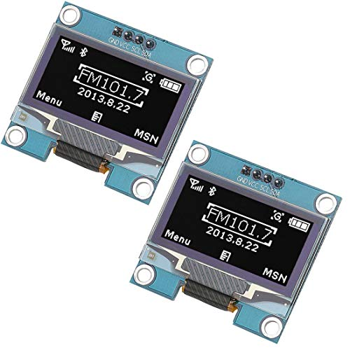 WINGONEER® 2Pcs 1.3 Inch IIC I2C Serial 128x64 SSH1106 OLED LCD Display LCD Module for Arduino AVR PIC STM32 - White Font