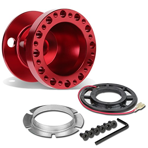 - DNA Motoring HUB-ALU-OH124-RD 6-Hole Steering Wheel Hub Adaptor