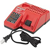 Milwaukee M12 & M18 Replacement Multi-Voltage Battery Charger - Charges Compact Batteries In 30 Minutes And Extended…