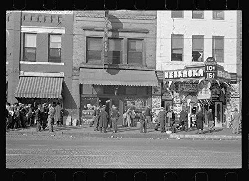Photo: Men Talking on Lower Douglas Street,Omaha,Nebraska,NE,Saloon,November 1938,1 ()