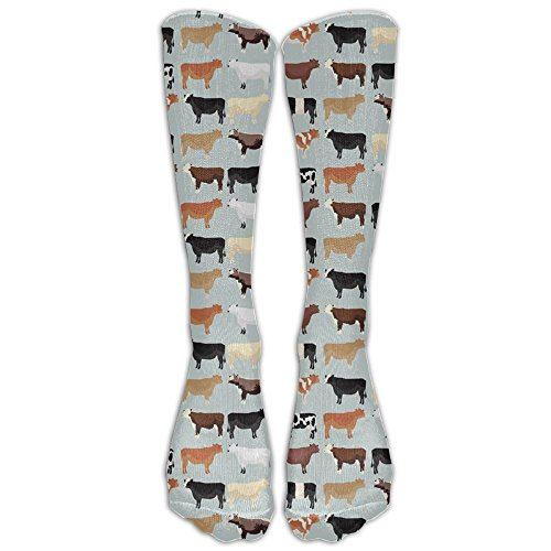 CHC40 Farmhouse Cows Compression Socks For Men & Women,Graduated Athletic Socks Reduce Muscle Soreness,Best For -