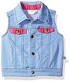 Rosie Pope Baby Girls' Denim Pom Vest, 6-9 Months