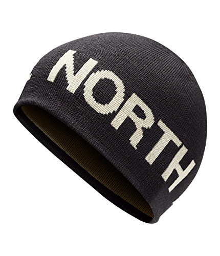(The North Face Unisex Reversible Banner Beanie Weathered Black/Vintage White One Size )