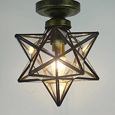 Clear glass star flush mount moravian 8 star ceiling light shade clear glass star flush mount moravian 8 star ceiling light shade with e26 bulb aloadofball Gallery