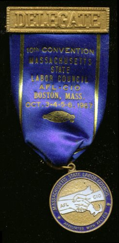 Massachusetts Labor Council Convention Delegate pin '67 ()