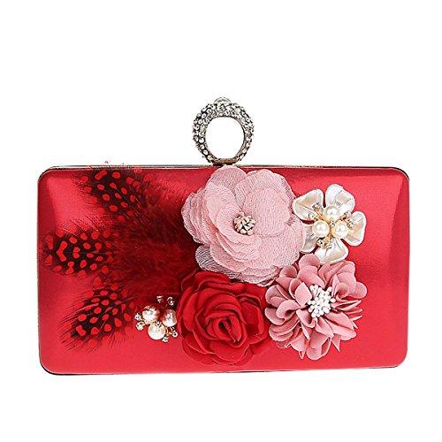 TOOKY - Bolso mochila de aleación para mujer Red