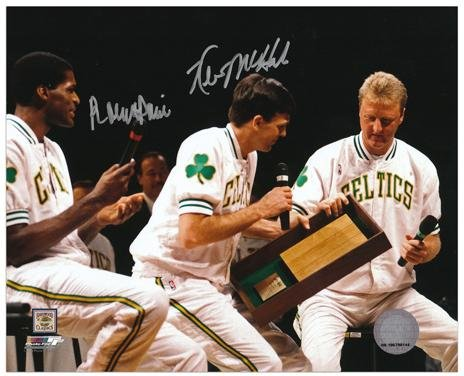 Kevin McHale and Robert Parish Dual-Signed 8