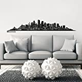 Wandkings Skyline wall sticker wall decal - 48.5 x 8.3 inch in black - Your city selectable - BOSTON