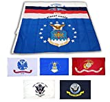 Wholesale Lot 3×5 ft 5 Branches Military Flags – 3'x5′ Banner Grommets – Air Force, US Navy, Coast Guard, Marines, Army Polyester Flags Set For Sale