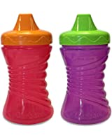 Gerber Graduates Fun Grips Hard Spout Sippy Cup in Assorted Girl Colors, 10-Ounce, 2 count