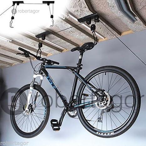Soporte colgador bicicleta soporte para bicicleta techo Garaje ...