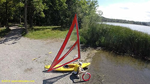 Serenity Upwind Kayak Sail and Canoe Sail Kit (Red). Complete with Telescoping Mast, Boom, Outriggers, Lee Boards, All Rigging Included! Compact, Portable, Easy to Set up - Makes a great gift ! by Sailskating (Image #5)