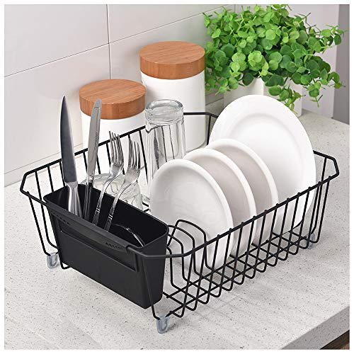 GLANZHAUS Deep Deluxe Steel Metal Wire Kitchen Dish Drying R