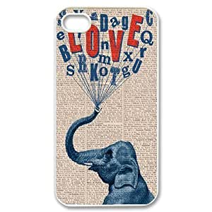 Elephant on Dictionary ZLB522783 Personalized Phone Case for Iphone 4,4S, Iphone 4,4S Case by lolosakes