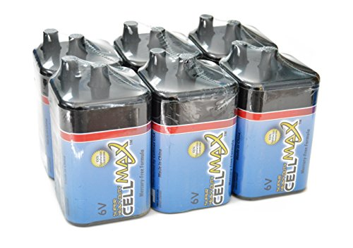 CellMax CM-4R25-SP1 - (6) Lantern Super Heavy Duty 6-Volt Batteries (6, 1-Packs)