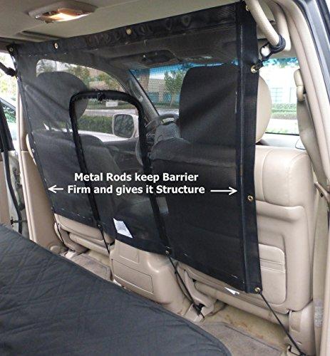 Car Seat Mesh Net Pet Barrier with zipper door 48'L x 32'H