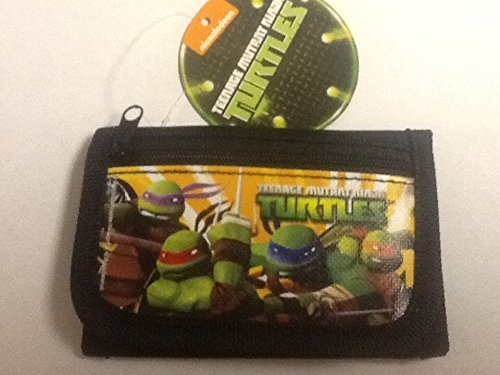 Brand New 2014 Teenage Mutant Ninja Turtles Tri Fold Wallet (Black)