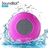 SoundBot SB510 HD Water Proof Bluetooth 3.0 Speaker, Mini Water Resistant Wireless Shower Speaker, Handsfree Portable Speakerphone with Built-in Mic