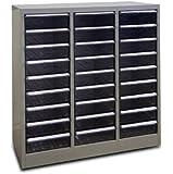 ADB Metall Schubladencontainer / Schubladenbox, 27 Schubladen, Lichtgrau