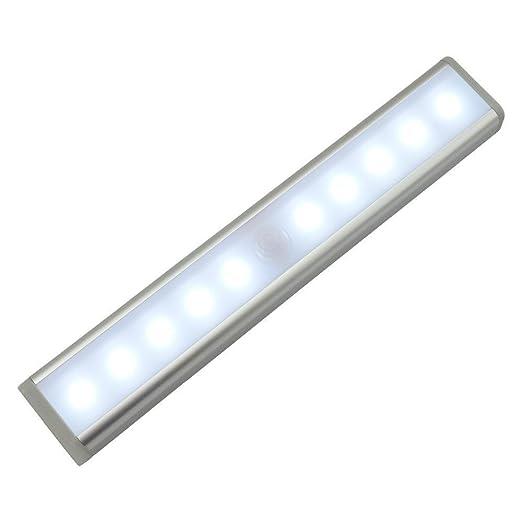 Sensor de movimiento de pared Luz para armario, minkoll 10 batería Alimentado por LED de