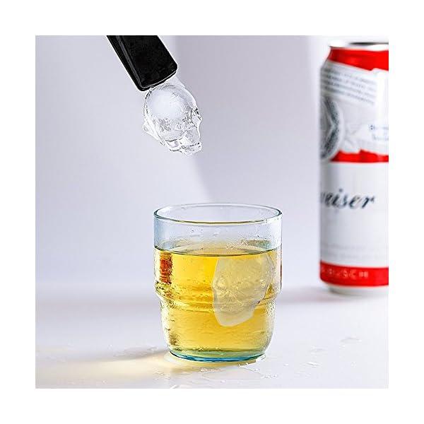 HOMCA, Stampo per cubetti di Ghiaccio in Silicone per Uso Alimentare, con Teschio e Diamanti, Perfetto per Whisky… 6 spesavip