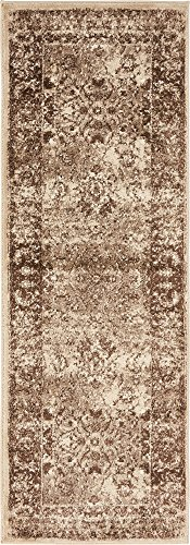 Unique Loom Imperial Collection Modern Traditional Vintage Distressed Cream Runner Rug (2' 0 x 6' - Rug Runner Cream