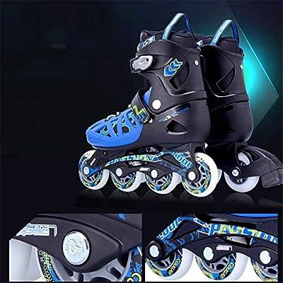 Adjustable Inline Skates,Adult Men's and Women's Roller Shoes,Roller Skates,Beginner Safe and Durable Flat Flower Skates,B,L: Home & Kitchen