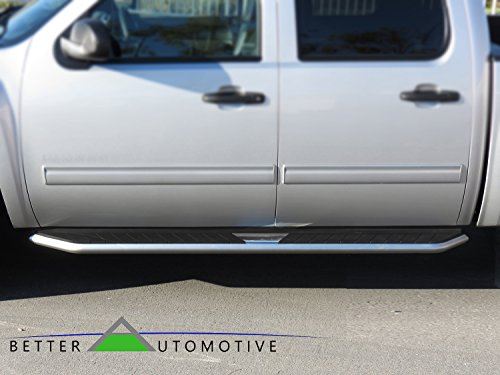 BETTER AUTOMOTIVE 2015-2016 DODGE RAM 1500 CREW CAB Wide Pioneer Side Step Running Boards Nerf Bars BLACK