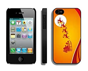 Featured Desin For Iphone 4/4S Case Cover Protective Skin Case Merry Christmas For Iphone 4/4S Case Cover Case 60 Black