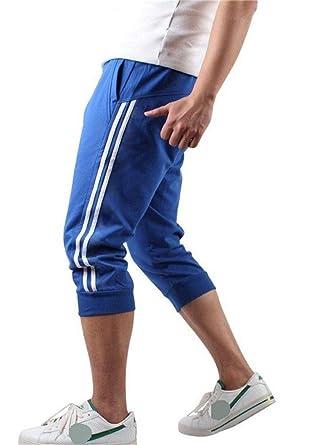 Hooleeger - Pantalones Pirata de chándal para Hombre Azul M ...