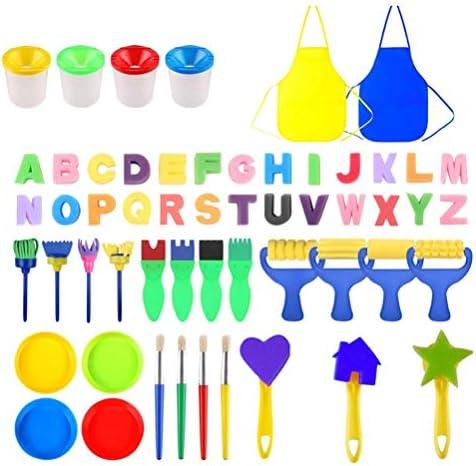 TOYANDONA ペイントブラシセットペイントツールアートペイントグラフィティツールスポンジブラシセット子供用、55個
