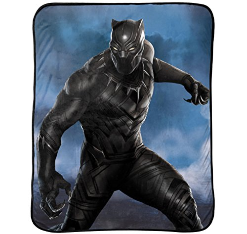 Disney Marvel Black Panther Hunter Plush Throw by Disney