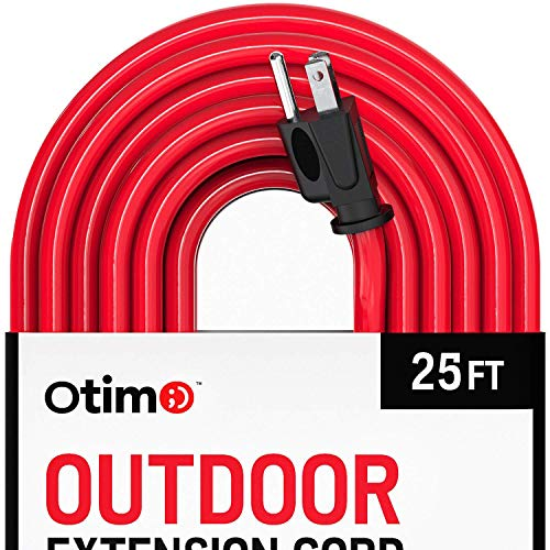 (Otimo 25 ft 12/3 Outdoor Extra Heavy Duty Extension Cord - Professional Series - 3 Prong Extension Cord,)
