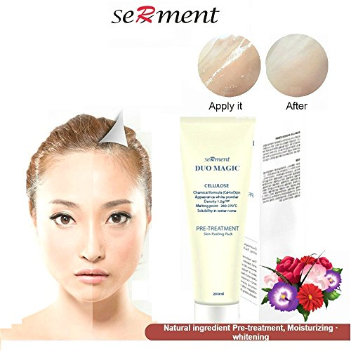 tics Deep Skin Exfoliating Peeling Gel with Cellulose and Papain, Collagen, skin smoothing, moisturizing, rejuvenating restoration facial (Brightener Skin Brightening Gel)
