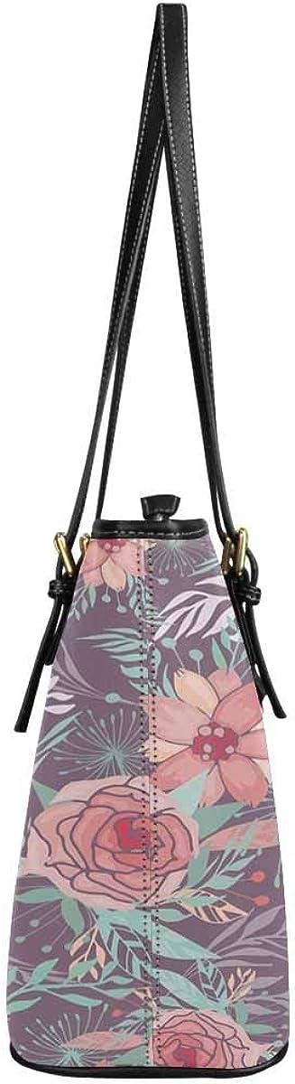 InterestPrint Top Handle Satchel HandBags Shoulder Bags Tote Bags Purse Roses and Peonies