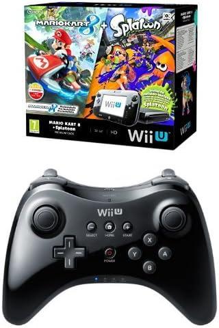 Nintendo Wii U - Consola Premium HW + Mario Kart 8 + Splatoon - Limitado + Mando Pro: Amazon.es: Videojuegos