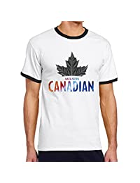 Fashion Molson Canadian Men's Short Sleeve Jersey Ringer Tee-shirt