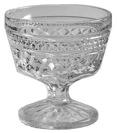 Glass Sherbert Dishes - Anchor Hocking Wexford Clear Glass ( Champagne/Tall Sherbet )