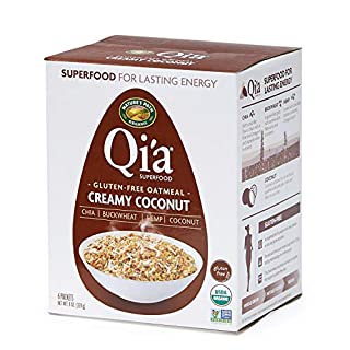 Nature's Path Qi'a Superfood Organic Gluten Free Oatmeal, Creamy Coconut, 8 Oz Box (Pack of 6)