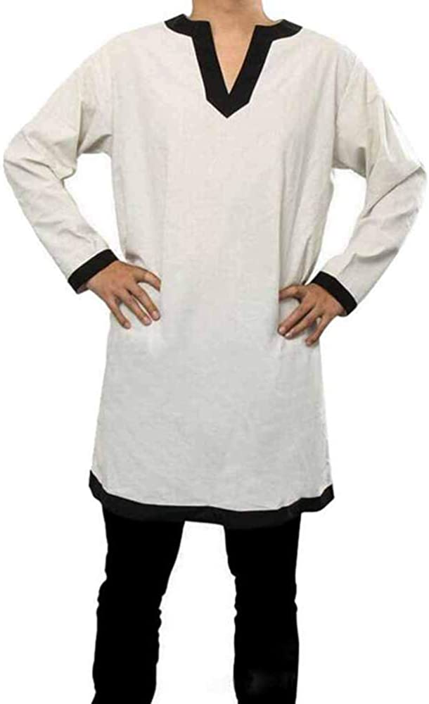 keepmore Disfraz de Disfraz Medieval para Hombre Disfraz de Performance Camisa vikinga Pirata renacentista Túnica con cinturón: Amazon.es: Ropa y accesorios
