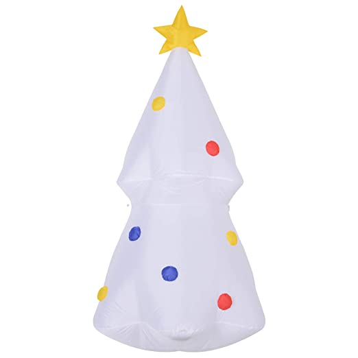 Homcom - Árbol de Navidad hinchable con luces LED, color blanco ...