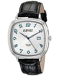 August Steiner Men's AS8155SS Analog Display Swiss Quartz Black Watch